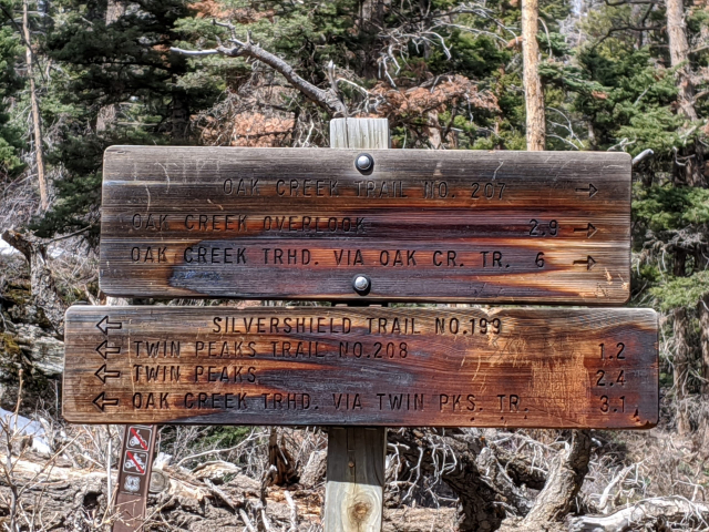 Ouray Hiking Trail Signs